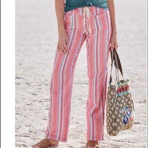 NWOT Sundance Gigi Drawstring Pants Pink Turquoise Mulit colored Medium